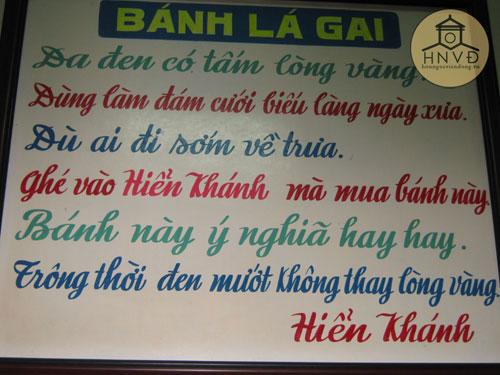 Thơ về bánh lá gai do ông Nguyễn Quý Quyền cảm tác