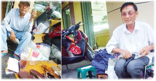 Người sửa giày sau lưng chợ Bến Thành